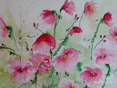 Flowers - Watercolor Painting Fine Art Print