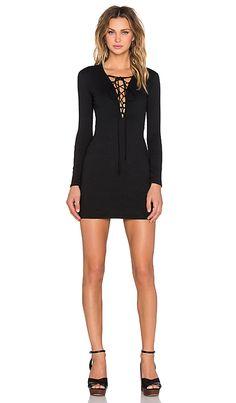Motel Cordelia Dress in Black   REVOLVE