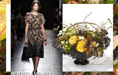 Beautiful inspiration❣  Not sure 'which came first, the chicken or the egg'—winter bouquet or Bottega Veneta? Emily Thompson Flowers