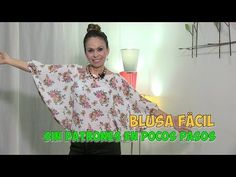 DIY Blusa Fácil sin Patrones en Pocos Pasos Easy Blouse without Patterns in Few Steps- Omaira tv Costura Diy, Sewing Blouses, My Little Pony Birthday, Love Sewing, Sewing Projects For Beginners, Couture, Fashion Sewing, Cute Dresses, Men Casual