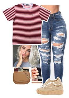 """:)"" by xxsaraxtaraxx on Polyvore featuring Urban Decay, NYX and Puma"