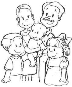 25 mejores imágenes de dibujos de la familia | Print coloring