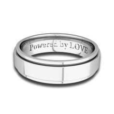 Engraved Mens Wedding Band Comfort Fit in Platinum - 5MM, Powered by LOVE My Love Wedding Ring. $1685.00. Free Ring Sizing (from size 3 to 14). Made in USA (New York). Solid Pure Platinum 950. Lifetime Warranty & Lifetime Rewards. Free Ring Engraving & Free Gift Packaging
