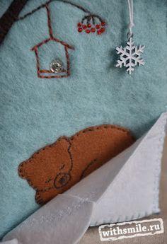 Развивающая книжка своими руками. Зимняя книга из натурального фетра. Winter Quite book of natural felt. 100% wool