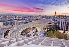 Vista de Sevilla desde Las setas