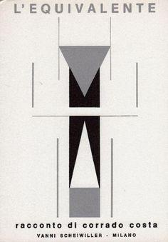 COSTA Corrado, L'equivalente. Milano, Scheiwiller (Denarratori), 1969 - Prima edizione di 1000 es. numerati