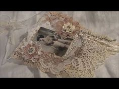 Vintage Shabby Chic Lace Collage Wall Hanging - VR tabasco14 Challenge