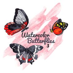 These are 10 handpainted watercolor butterflies Theyre ideal for digital scrapbooking as well as being printable, so you can use them for your physical scrapbooks as well. I think these would be great for making stationary or as added enhancement for wedding invitations. They