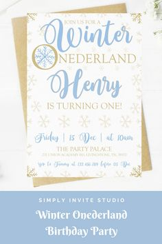 This Winter Onederland Birthday Invite is perfect for a little boys' birthday party. This easy to edit birthday party invitation will be a great addition to your little one's Winter Onederland Birthday Party Theme. Boy First Birthday, Boy Birthday Parties, Winter Wonderland Theme, Boy Birthday Invitations, Winter Onederland, First Birthdays, Invite, How To Memorize Things, Place Card Holders