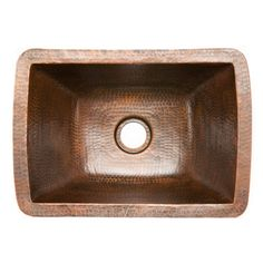 "Premier Copper Products Premier Copper Products 17"" x 12"" Rectangle Copper Bar Sink"