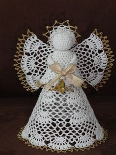 Best 12 Handmade by Ecola – Aniołki 2014 – SkillOfKing. Crochet Angel Pattern, Baby Afghan Crochet Patterns, Crochet Angels, Crochet Ornaments, Crochet Snowflakes, Pinterest Crochet, Christmas Angel Ornaments, Christmas Knitting, Felt Crafts