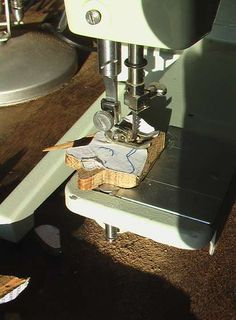 Turn a sewing machine into a scroll saw! Samsfloweringelbow.org  But, ONLY if your sewist allows!