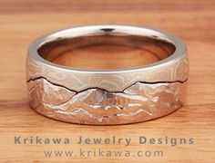 Mokume Gane Mountain Wedding Ring                                                                                                                                                                                 More