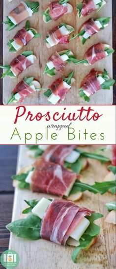 Apple Bites Only four ingredients needed to make these elegant, yet simple, Prosciutto Wrapped Apple Bites for an appetizer!Only four ingredients needed to make these elegant, yet simple, Prosciutto Wrapped Apple Bites for an appetizer! Holiday Appetizers, Healthy Appetizers, Appetizer Recipes, Simple Appetizers, One Bite Appetizers, Wine Appetizers, Apple Bite, Clean Eating Snacks, Cooking Recipes