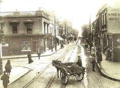 Corner of Marine Road and George's Street in Century Dublin Street, Dublin City, Old Pictures, Old Photos, Vintage Photos, Michael Church, Irish Culture, Ireland Homes, Dublin Ireland