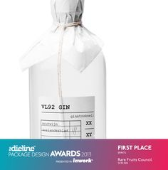 packaging: VL92 GIN - The Dieline Awards 2013