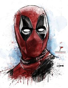 Deadpool cool use of mark and line