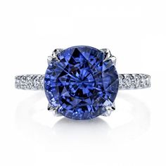 Omi Prive: Violet Sapphire and Diamond Ring