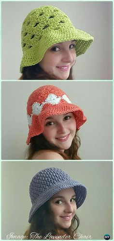 Crochet Women Floppy Sun Hat Free Patterns -  #Crochet; Adult Sun #Hat Free Patterns