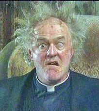 According to an ancient Irish saint and Paddy Power, Bono and Father Dougal McGuire from 'Father Ted' have outside chances of presiding over the end of the world. Father Ted, Comedy Tv, Comedy Show, Ted Gif, British Comedy, English Comedy, British Humour, Little Britain