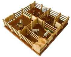 CY4 - Cattle Yard No 4 - Handmade Wooden Yard , $187.00 by Country Toys - Handmade Wooden Trucks and Toys