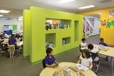 Fun and colorful elementary school classroom