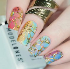 10 Amazing Spring Nail Art Designs That You Should Try Asap Nail Art Designs, Nail Designs Spring, Nail Polish Designs, Acrylic Nail Designs, Spring Design, Acrylic Nails, Cute Nails, Pretty Nails, My Nails