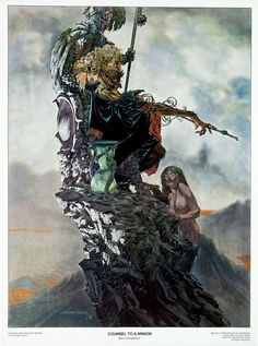 Paintings and prints by the late Bernie Wrightson, a master of comics art and illustration. Heavy Metal Comic, Heavy Metal Art, Art And Illustration, Comic Book Artists, Comic Artist, Fantasy Kunst, Fantasy Art, Bernie Wrightson, Metal Magazine