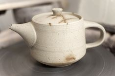 Ceramics by Stefan Andersson at Studiopottery.co.uk - Teapot - Stoneware, porcelain slip (2011, W: 14 cm)