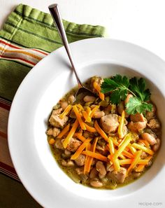 Warm Your Insides with this White Chicken Chili - beautifully presented recipe that looks delicious!!!