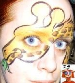 Giraffe face paint design