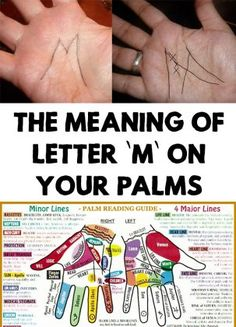 """Incredible! Do you have the letter """"M"""" on your palms? Find out the meaning of letter """"M"""" on your palms! Reading palms can reveal lots of things about you!"""
