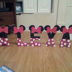 Minnie Mouse theme. Aubree's bedroom.  She loves Minnie!