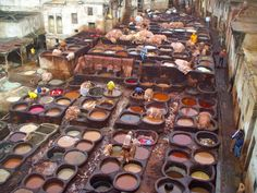 Traditional Tannery in Fez, Morocco