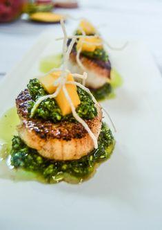 pan seared scallops with chimichurri sauce pan seared scallops with ...