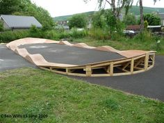 wooden pump track - want to build a pump track in the back garden