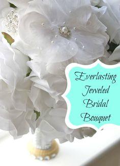 Everlasting jeweled bridal bouquet with David Tutera Bridal - #daricecrafts