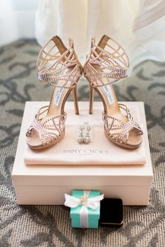 Strappy Jimmy Choo Shoes - See the wedding here: http://www.stylemepretty.com/little-black-book-blog/2014/05/20/whimsical-ojai-valley-wedding/ #SMP - Photography: Jonathan Young - jyweddings.com