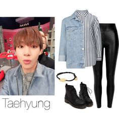 Taehyung on ASC Inspired by btsoutfits on Polyvore featuring mode, Studio, Topshop, Black and Feather & Stone