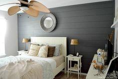 Accent Wall Bedroom, Wood Bedroom, Master Bedroom, Bedroom Ideas, Plank Wall Bedroom, Accent Walls, Bedroom Signs, Teen Bedroom, Bedroom Inspiration