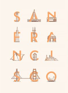 san francisco type (design, illustration, travel)
