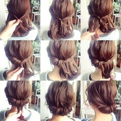 Image result for updos for short hair for a wedding easy