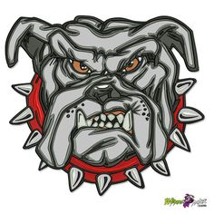 NEW LARGE ANGRY BULLDOG OVER 112000 STITCHES FLOOD THIS DESIGN, HUGE BIKER BACK PATCH SEW OR IRON ON Biker Back Patches, Army Patches, Pin And Patches, Air Force Patches, Bulldog Tattoo, Studded Collar, Custom Patches, Stitches, Badge