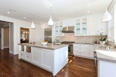 San Francisco Remodel - Contemporary - Kitchen - San Francisco - J Reilly Construction Kitchen Benches, Kitchen Redo, Kitchen Remodel, Kitchen Design, Ikea Kitchen, Kitchen Island, Kitchen Cabinets, White Interior Design, Interior Decorating