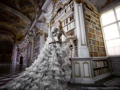 I Did A Photoshoot In A Real-Life Disney Library – Admont Abbey | Bored Panda