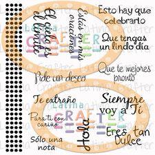 Frases en Español (4 x 4) - Sellos de #LatinaCrafter con frases para toda ocasión.