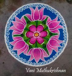Easy Rangoli Designs Diwali, Rangoli Designs Flower, Beautiful Rangoli Designs, Simple Rangoli, Diya Rangoli, Indian Rangoli, Rangoli Colours, Fantasy Art, Decorative Plates