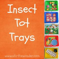 Insect Tot Trays from Stir the Wonder