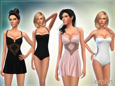 Summer Wine Set  Found in TSR Category 'Sims 4 Female Clothing Sets'