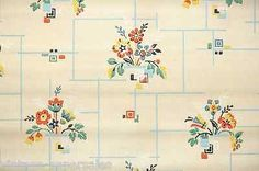 1920s Vintage Wallpaper Beautiful Kitchen Floral